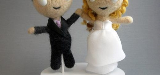 Felted Cake Topper Front
