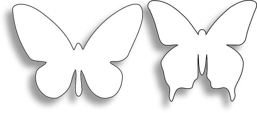 Головокружение: Коллекция трафаретов (шаблонов) бабочек.