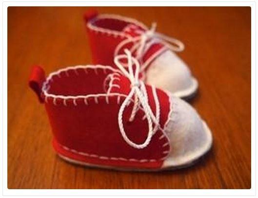 фетровые ботиночки