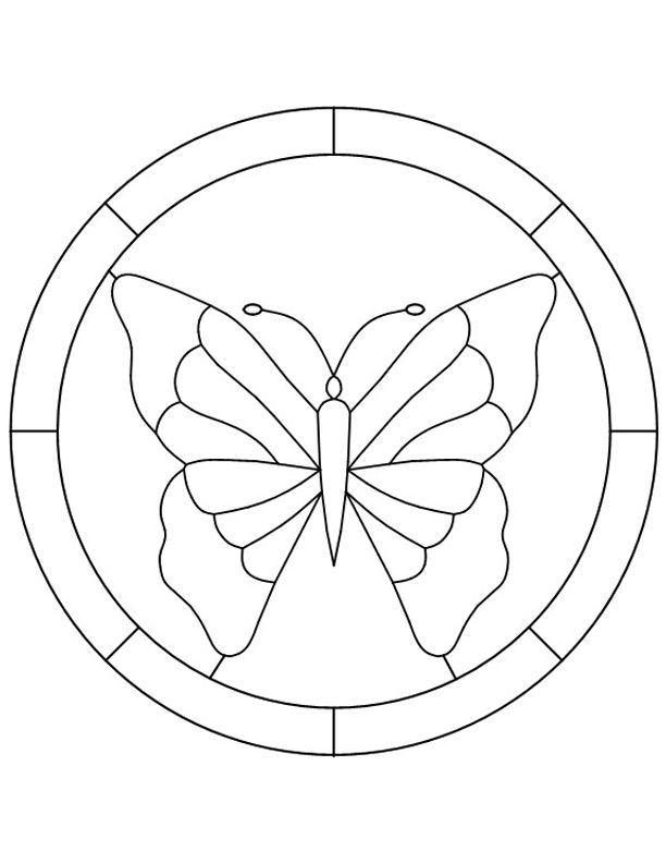 glass pattern 997 butterfly