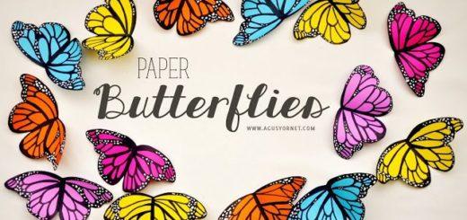 mariposas de papel m-