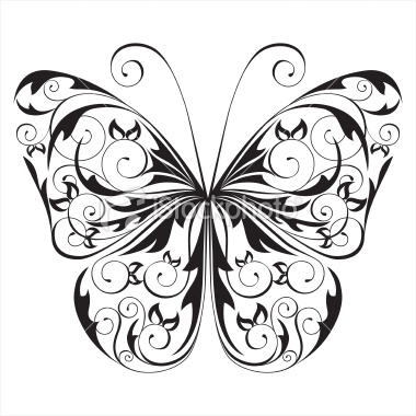 stock-illustration-11185329-black-and-white-butterfly