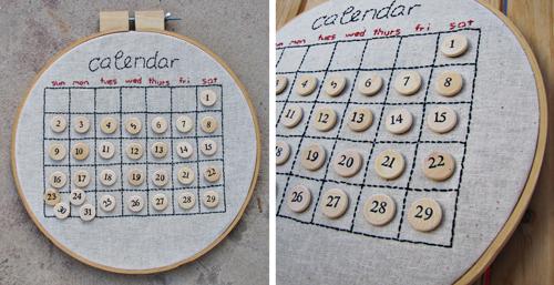 MayDae-Christmas-perpetual-embroidered-calendar-handmade-diy