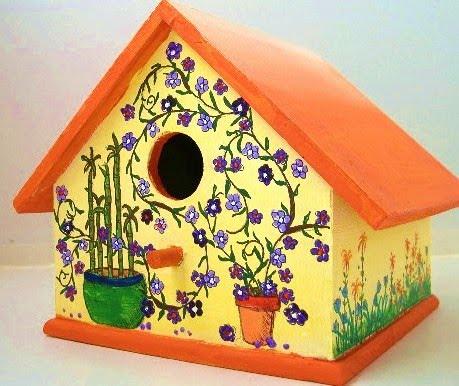 Springtime birdhouse
