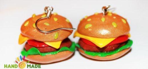 гамбургер из полимерной глины