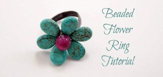 Beaded+Flower+Ring