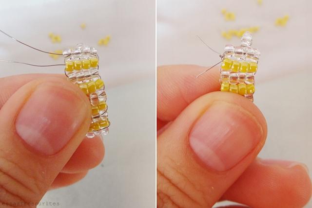 кольцо из проволоки и бисера12