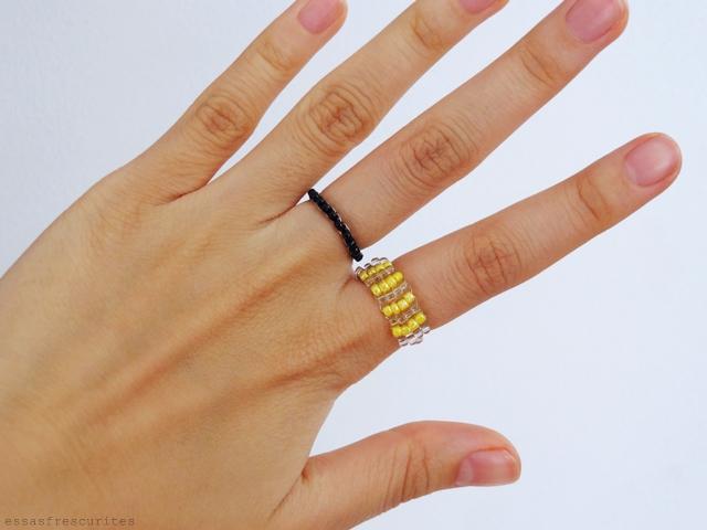 кольцо из проволоки и бисера16