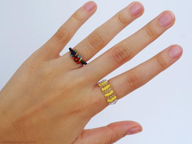 кольцо из проволоки и бисера17