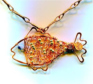 Copper Fish Necklace088