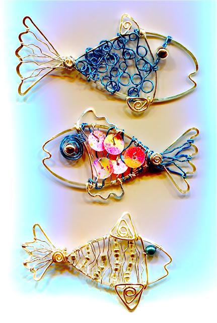 Copper Fish Necklace096