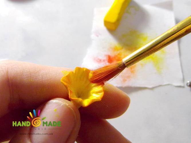 Нарциссы из полимерной глины