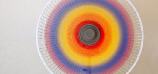 paint a rainbow fan 1