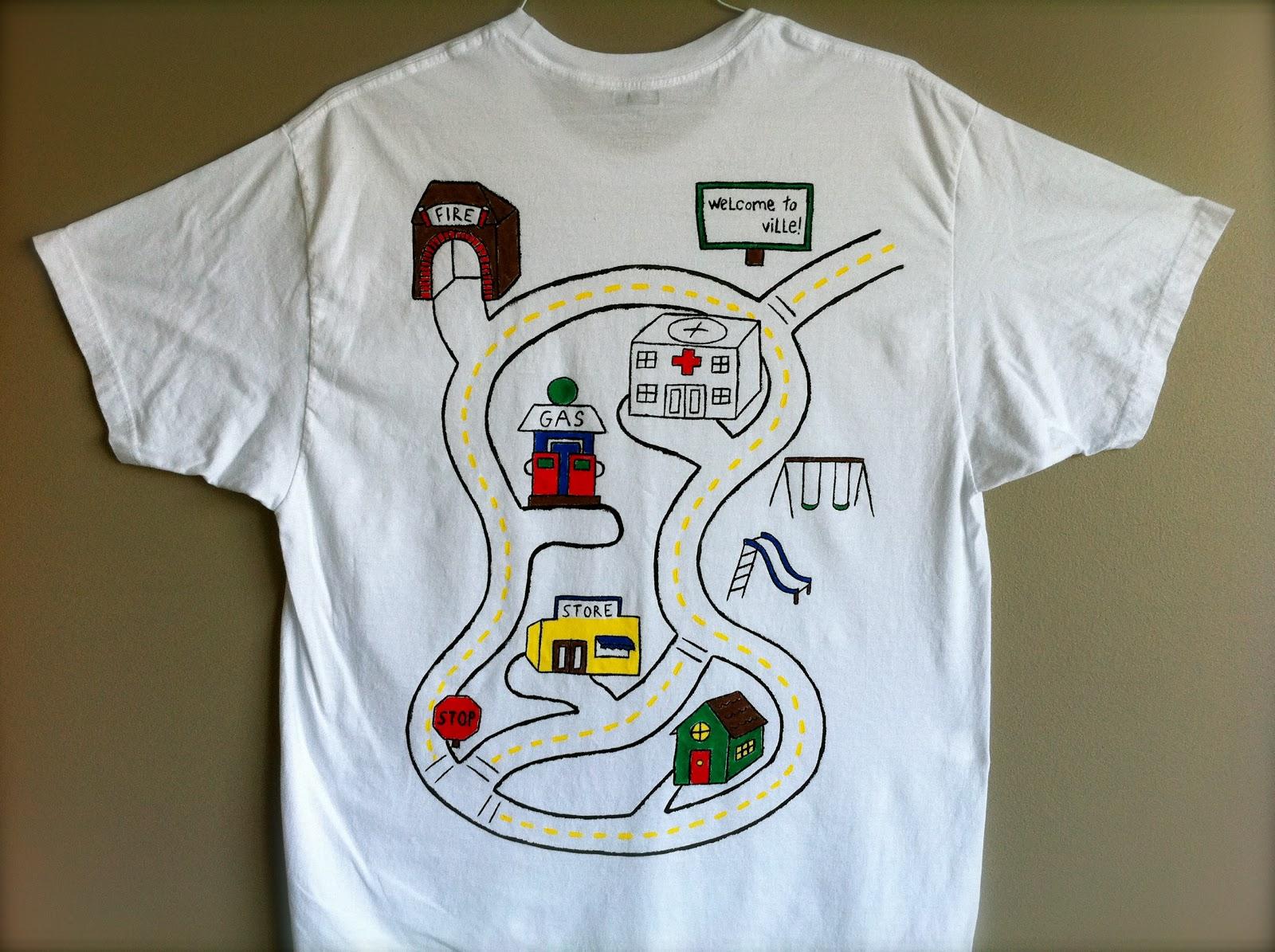автомобильная футболка своими руками