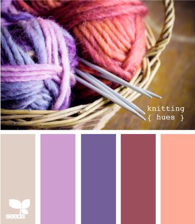 Какие цвета сочетаются с голубым в вязании