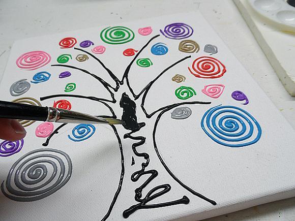 swirl tree step 9