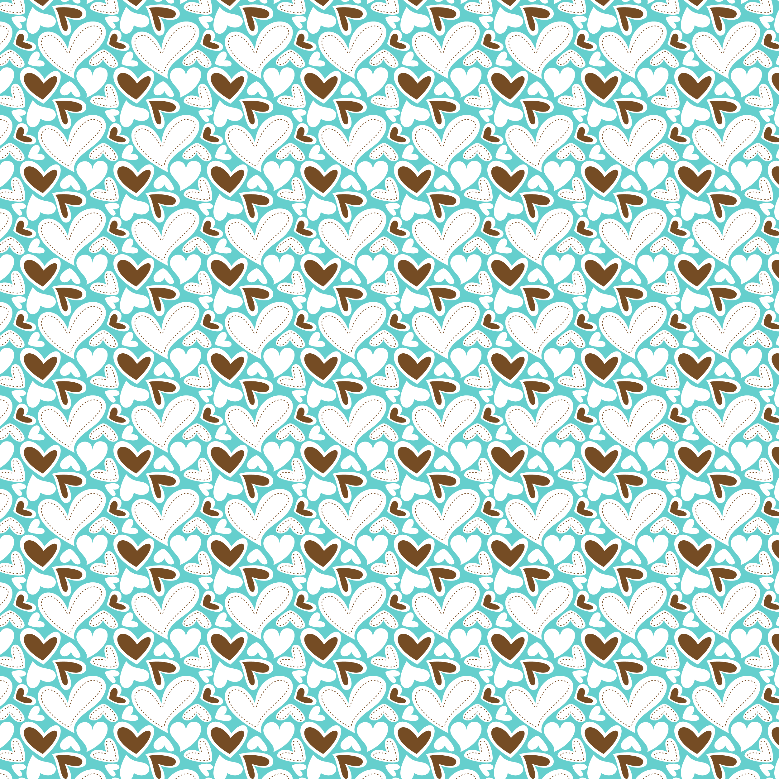 FabNFree-3111-StitchyHearts-TurquoiseBrown-Paper