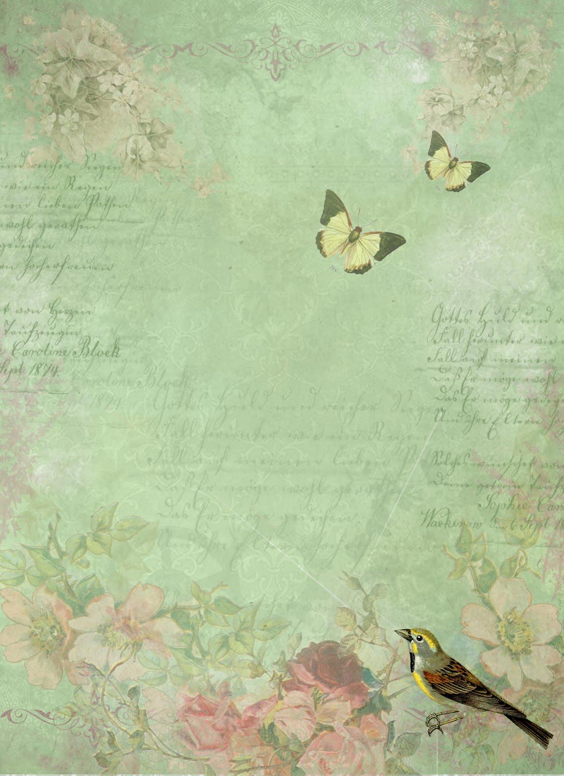 Greentone with bird