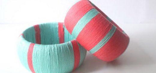 Yarn wrapped bangles