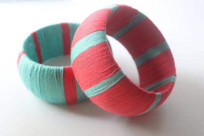Yarn wrapped bangles4