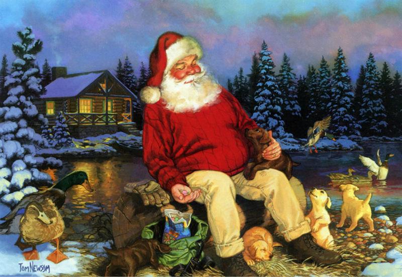 Рождественские картинки американских художников, деньгами картинка
