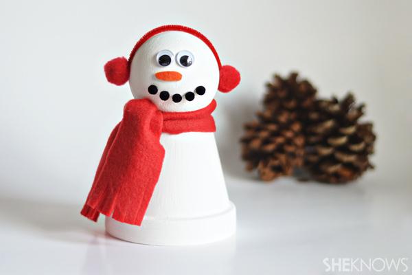 Clay-pot-snowman