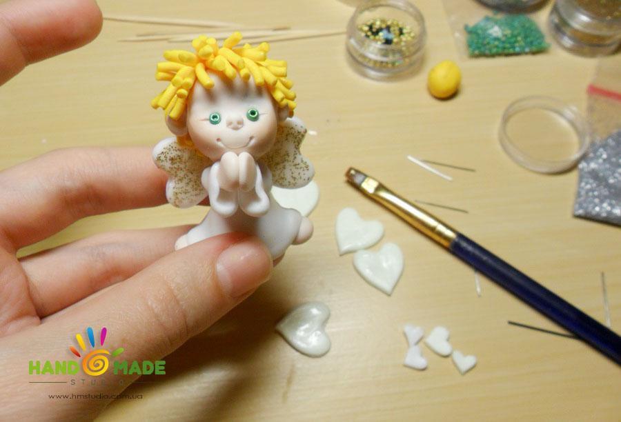Рождественский ангел из полимерной глины