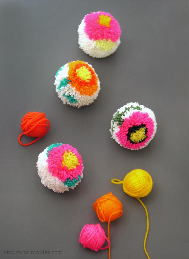 Цветочные помпоны
