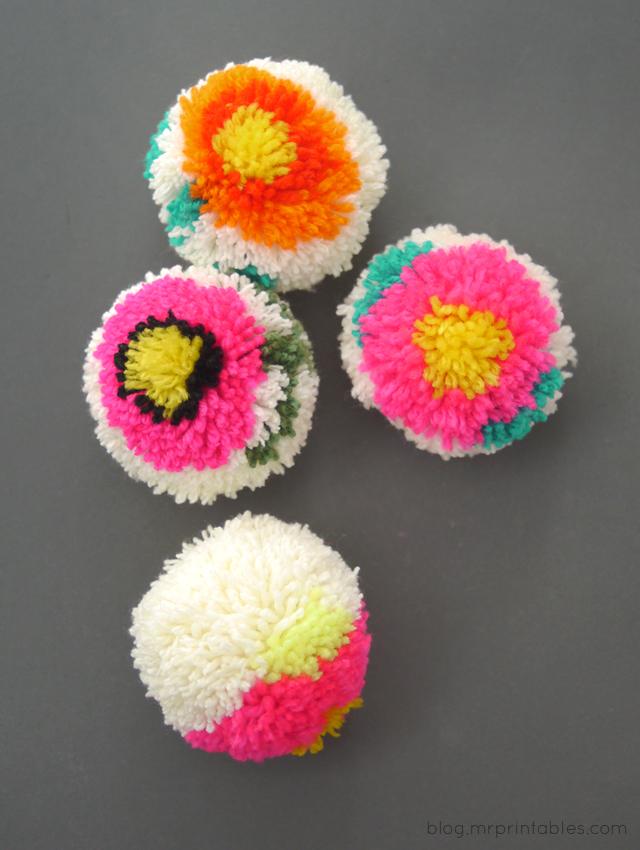 Цветочные помпоны2