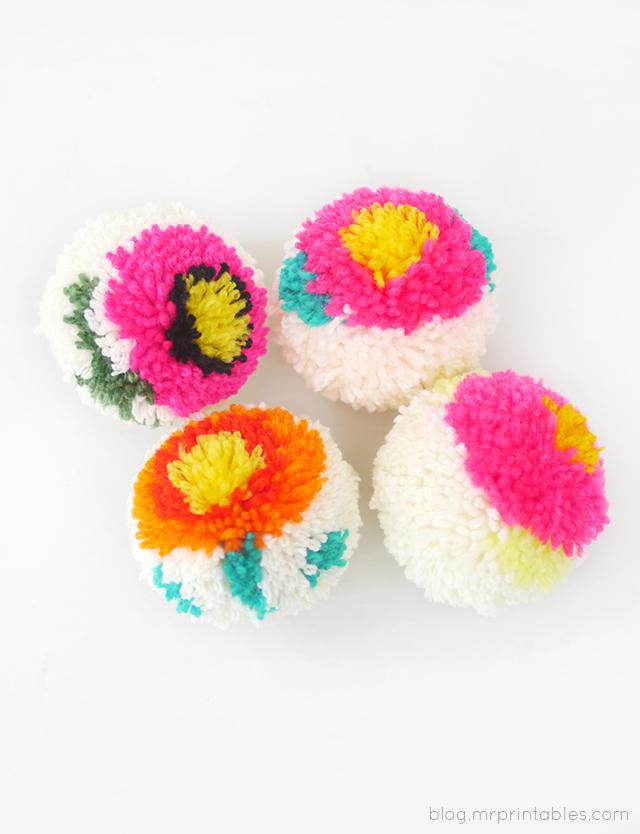 Цветочные помпоны3