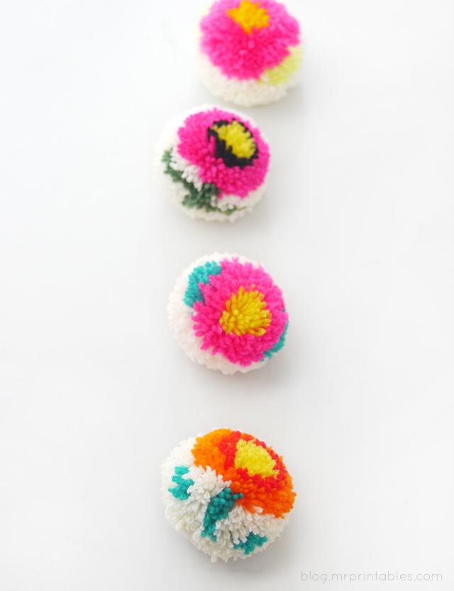 Цветочные помпоны11