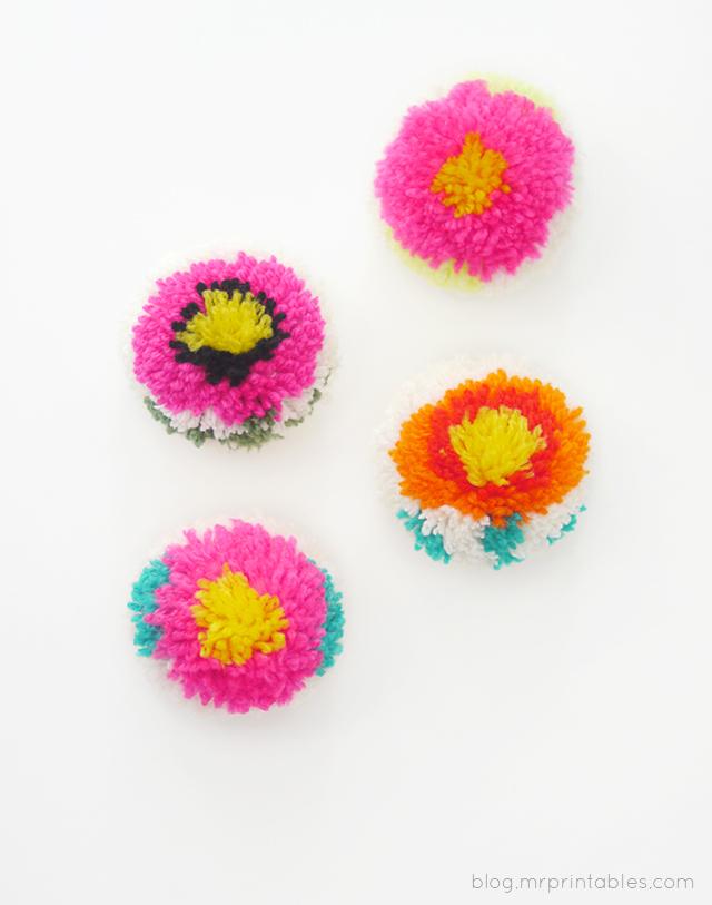 Цветочные помпоны13