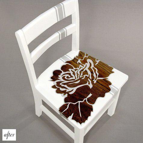 цветы на стуле