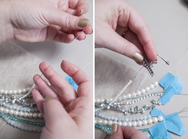 Многоярусное ожерелье