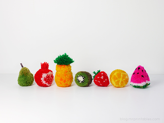 fruit-pompoms-on-table