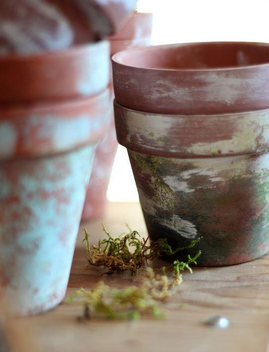 состаривание керамических горшков