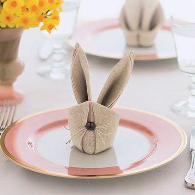 салфетка в виде кролика