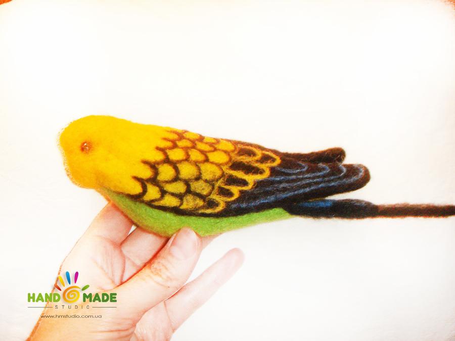 Волнистый попугай (сухое валяние)