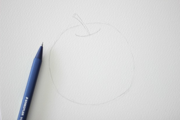 Как нарисовать яблоко акварелью