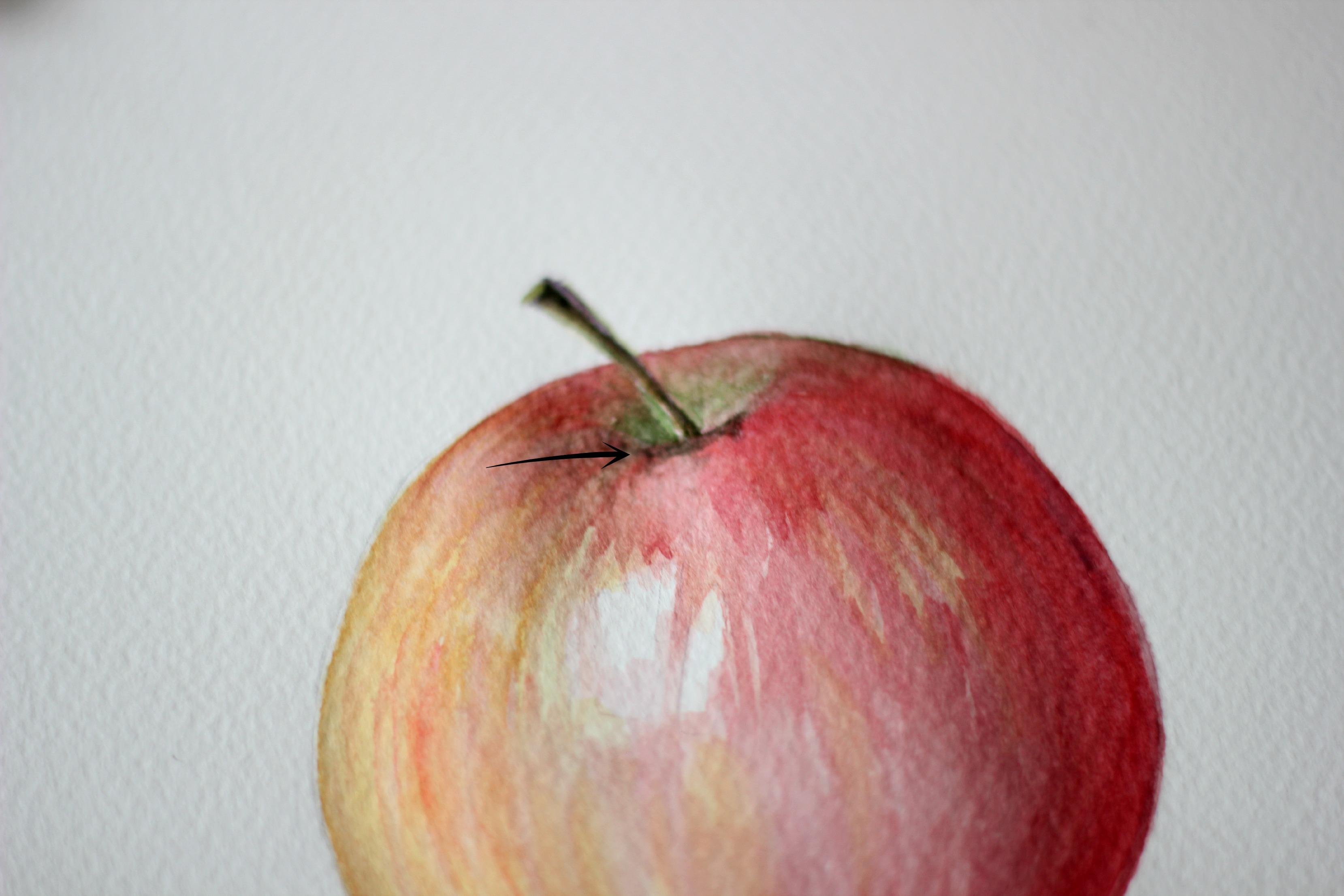 учимся рисовать натюрморт вазу с яблоком красками пошаговая инструкция