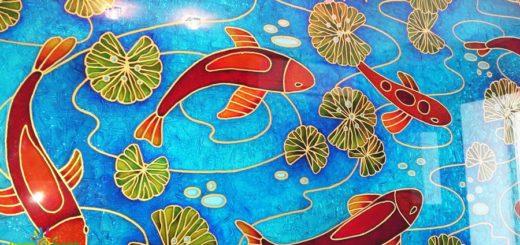 Витражное панно «Рыбы»