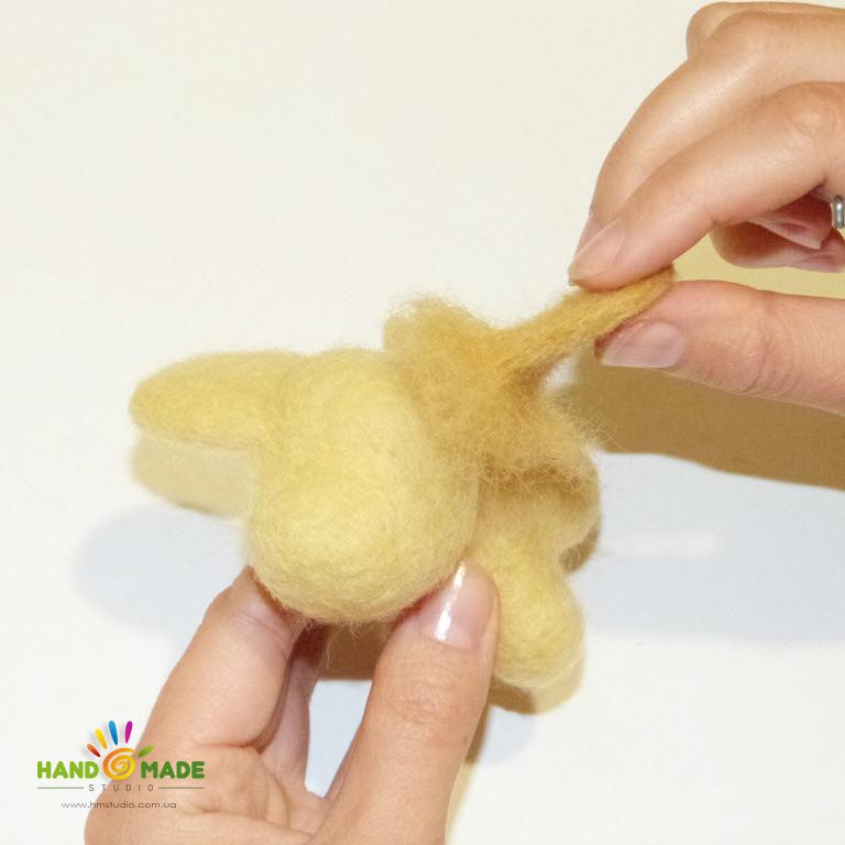 Собачка в технике сухого валяния для начинающих