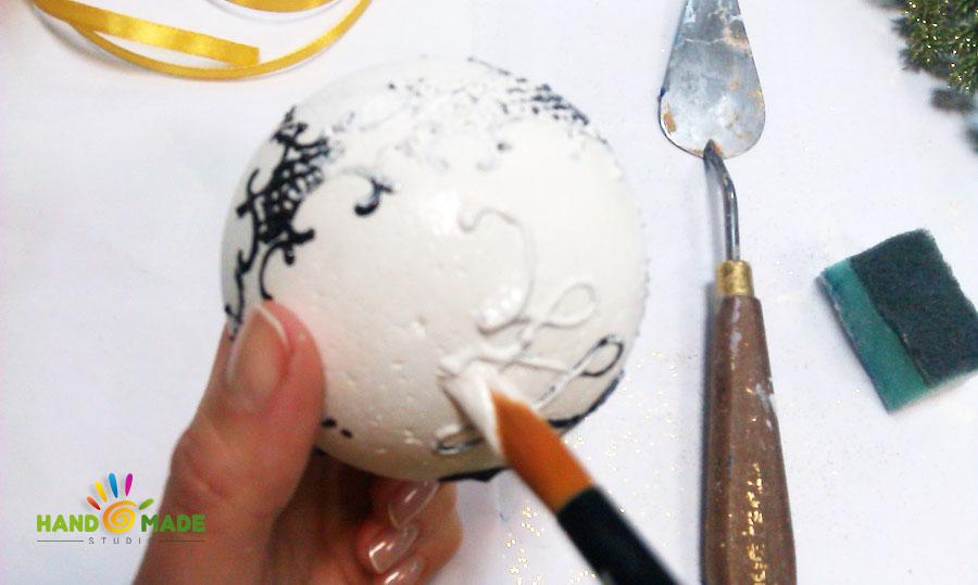 Декор пенопластового шара