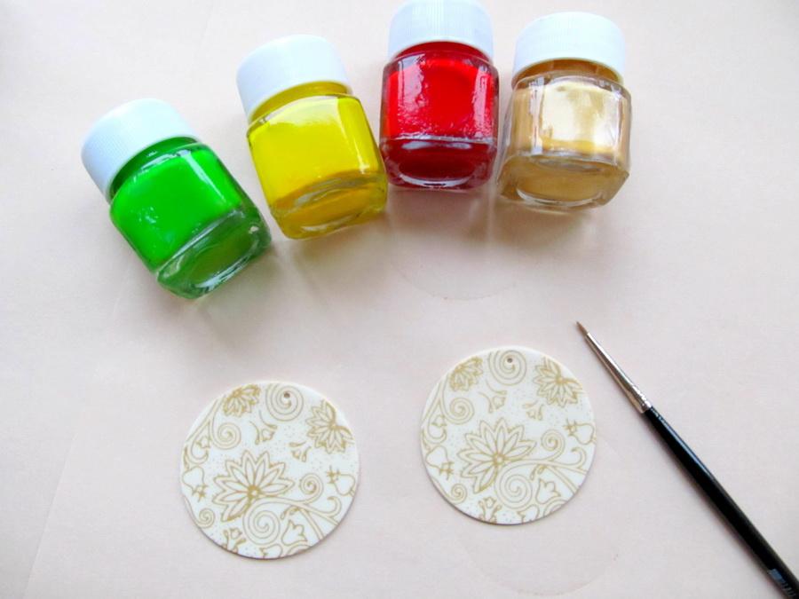 Шелкография по полимерной глине