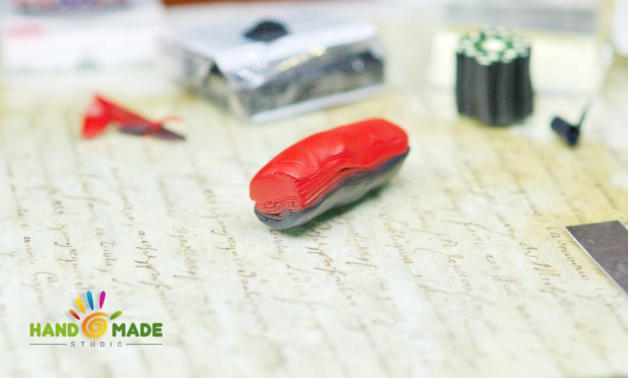 Цветочная трость из полимерной глины