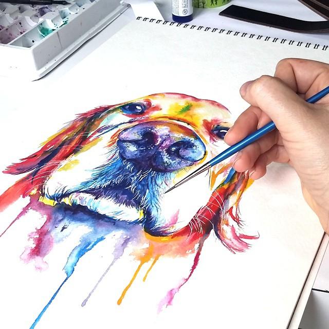 Яркая акварель  by Shaunna