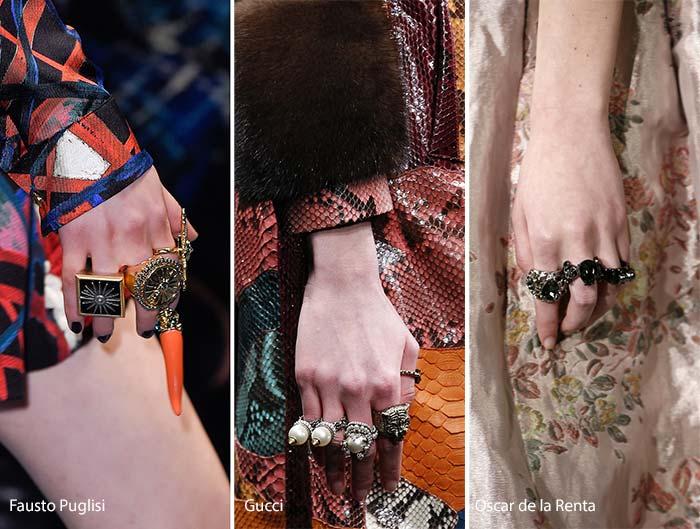 Модные кольца осенью 2016 года