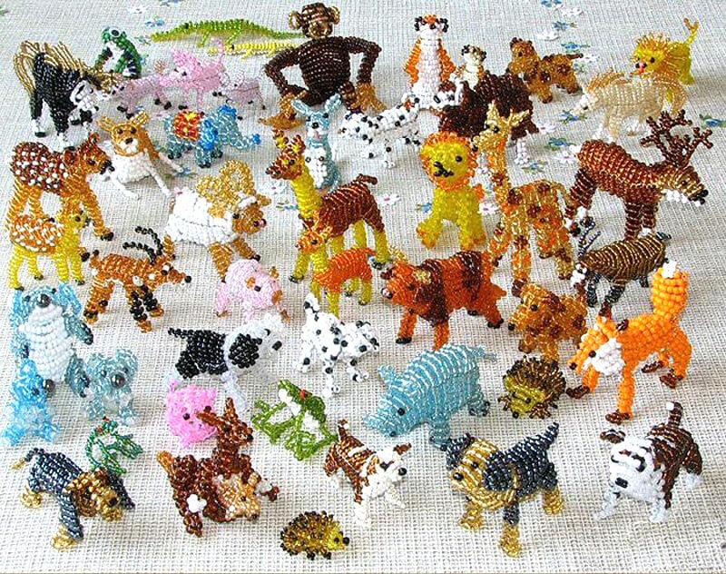 figurki iz bisera